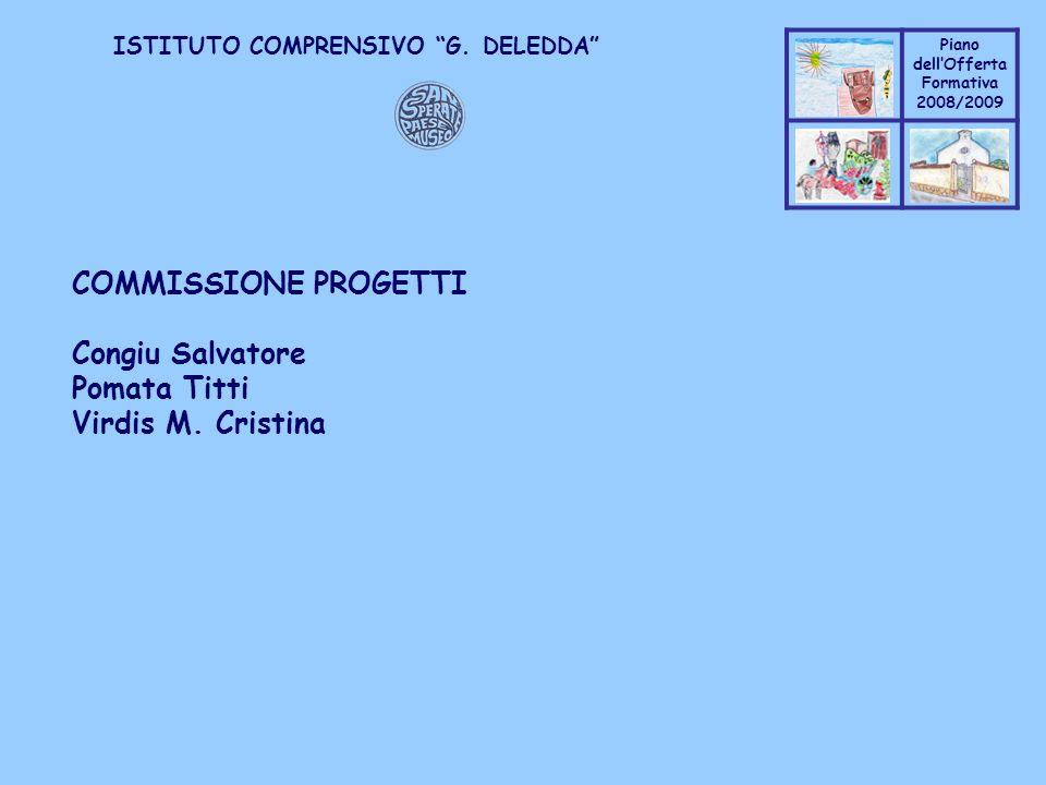 Coppo M. A. Piano dellOfferta Formativa 2008/2009 Coppo M. A. ISTITUTO COMPRENSIVO G. DELEDDA COMMISSIONE PROGETTI Congiu Salvatore Pomata Titti Virdi