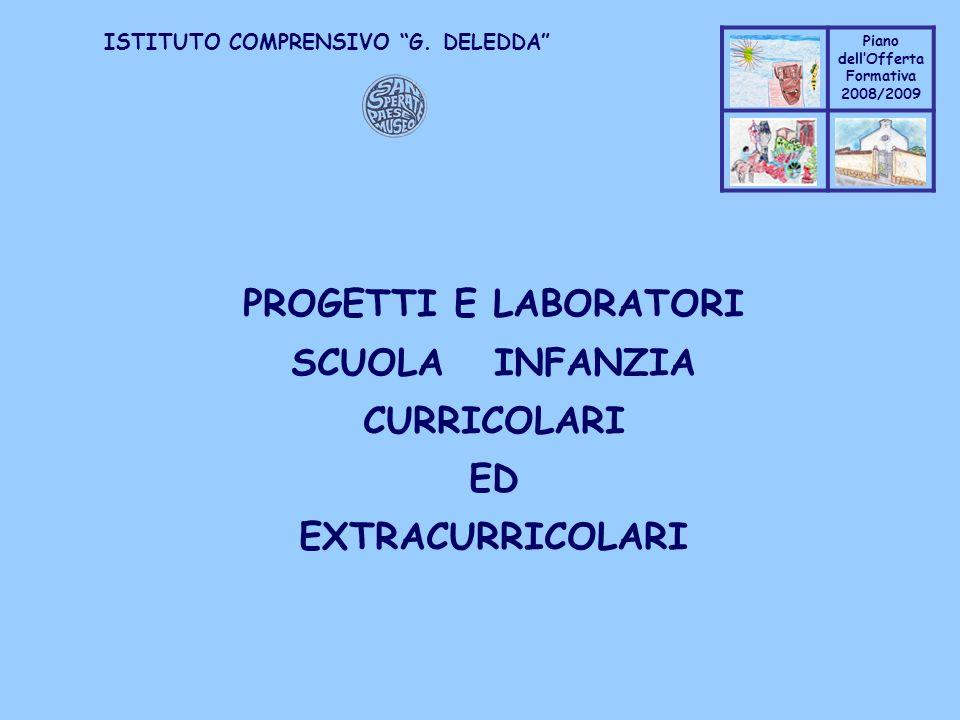 Coppo M. A. Piano dellOfferta Formativa 2008/2009 Coppo M. A. ISTITUTO COMPRENSIVO G. DELEDDA PROGETTI E LABORATORI SCUOLA INFANZIA CURRICOLARI ED EXT