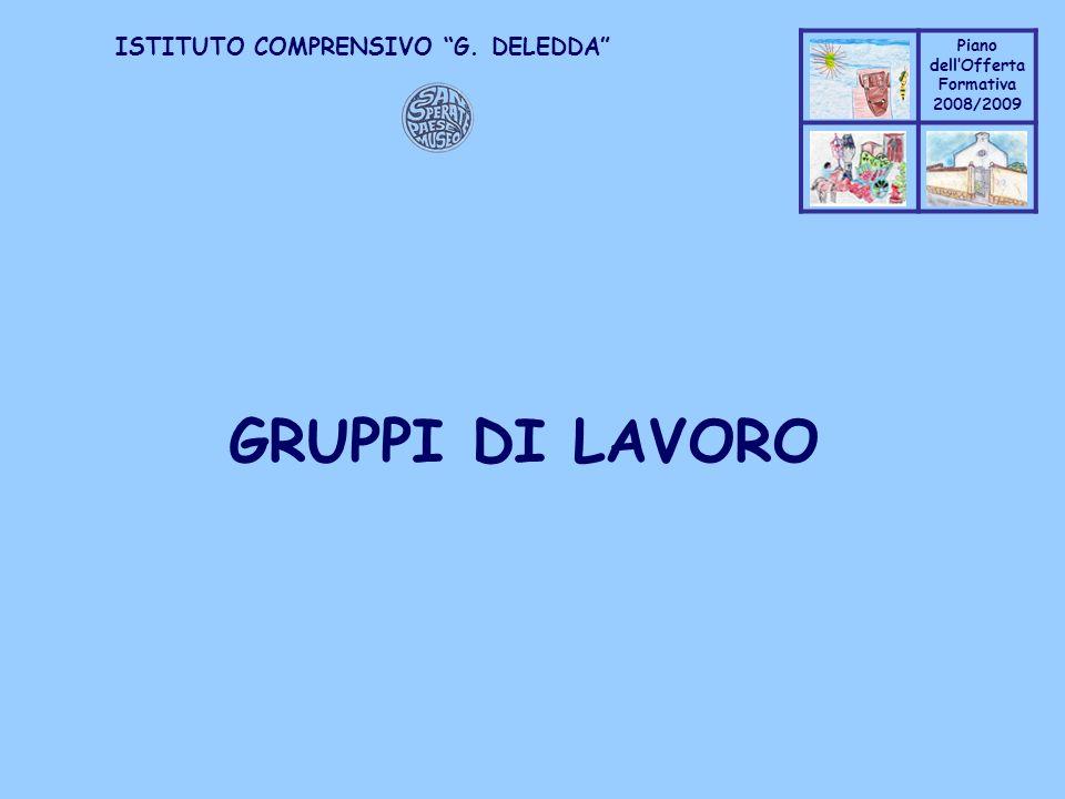 Coppo M. A. Piano dellOfferta Formativa 2008/2009 Coppo M. A. ISTITUTO COMPRENSIVO G. DELEDDA GRUPPI DI LAVORO