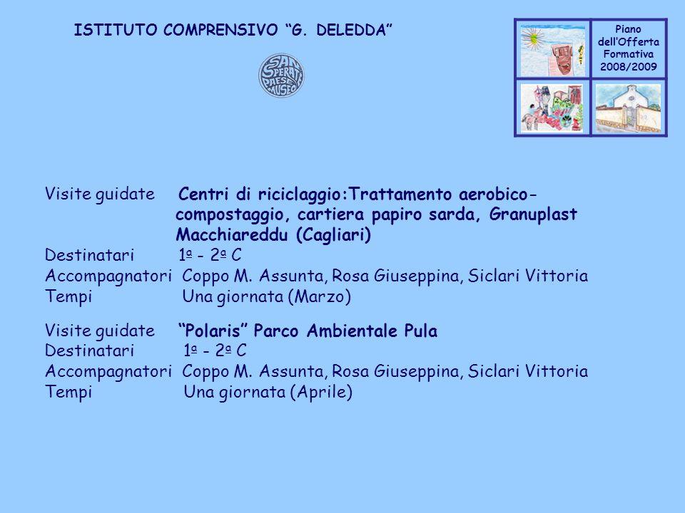 Coppo M. A. Piano dellOfferta Formativa 2008/2009 Coppo M. A. ISTITUTO COMPRENSIVO G. DELEDDA Visite guidate Centri di riciclaggio:Trattamento aerobic