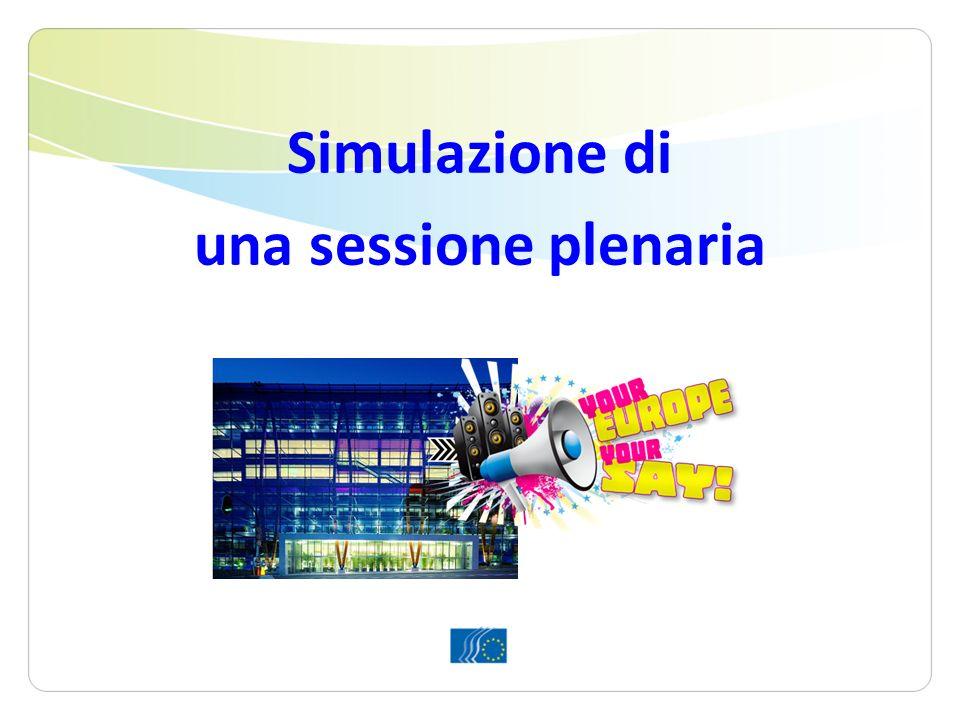 Simulazione di una sessione plenaria