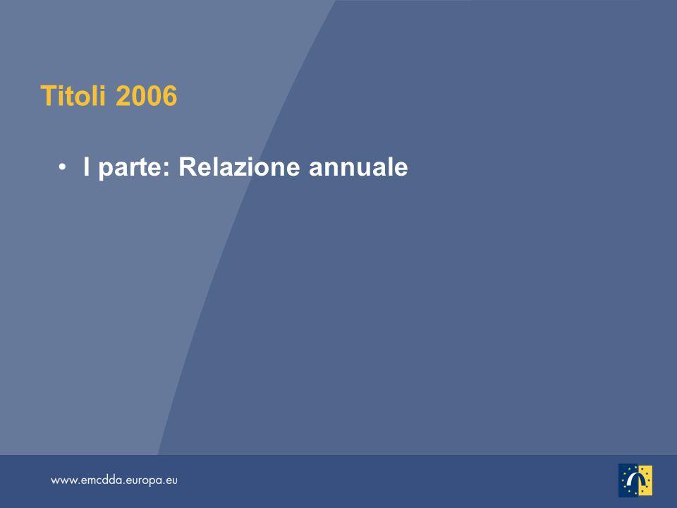 Titoli 2006 I parte: Relazione annuale