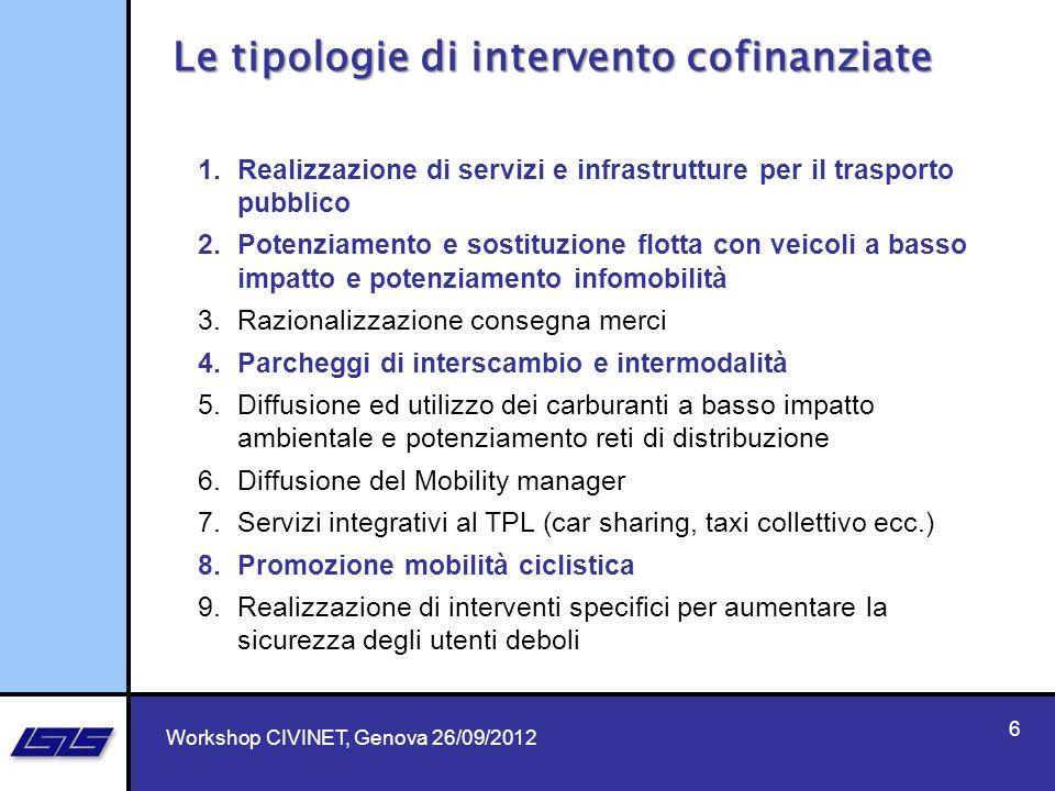6 1.Realizzazione di servizi e infrastrutture per il trasporto pubblico 2.Potenziamento e sostituzione flotta con veicoli a basso impatto e potenziame