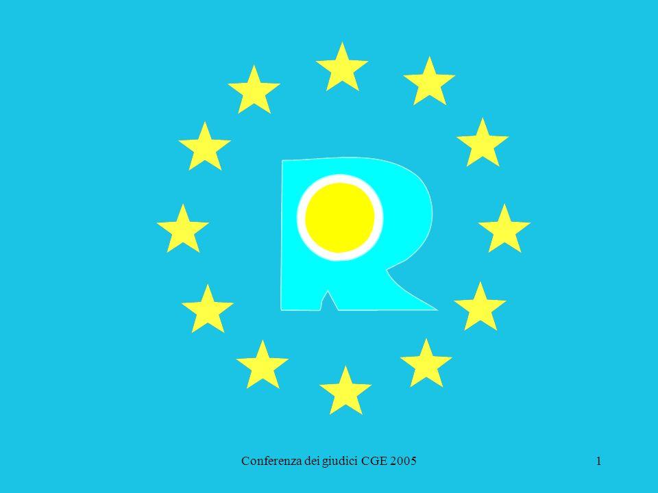 Conferenza dei giudici CGE 200562 Corte di giustizia europea August Storck KG (Werthers Bonbons) C-24/05 P - T-396/02 Deposito ricorso Udienza Avvocato generale Relatore Decisione