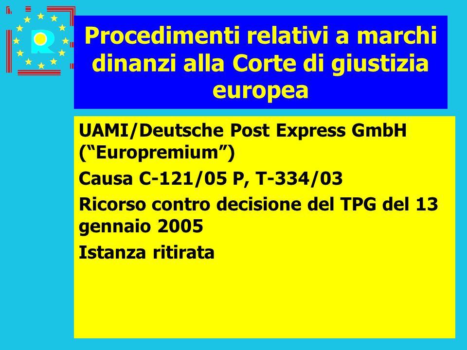 Conferenza dei giudici CGE 2005105 Procedimenti relativi a marchi dinanzi alla Corte di giustizia europea UAMI/Deutsche Post Express GmbH (Europremium