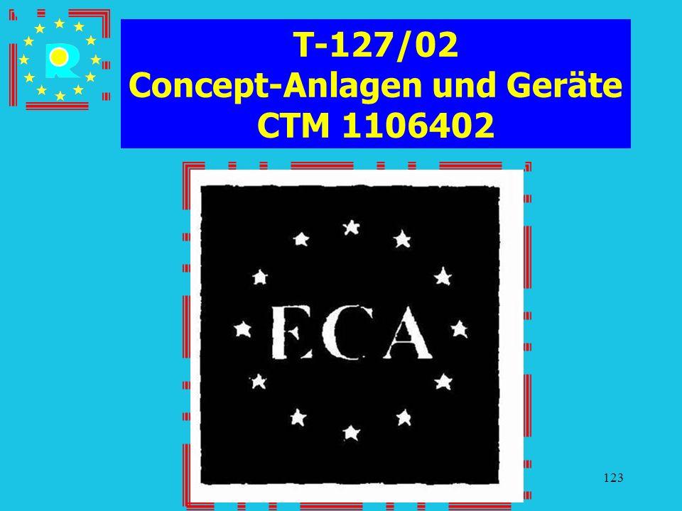 Conferenza dei giudici CGE 2005123 T-127/02 Concept-Anlagen und Geräte CTM 1106402