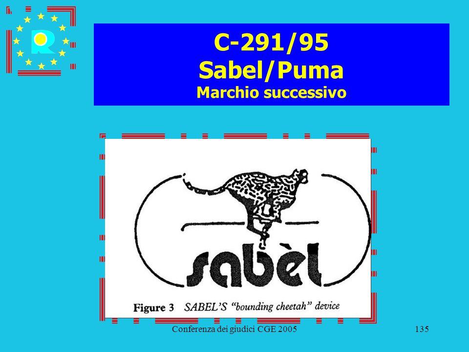 Conferenza dei giudici CGE 2005135 C-291/95 Sabel/Puma Marchio successivo