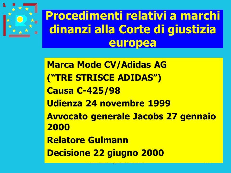 Conferenza dei giudici CGE 2005138 Procedimenti relativi a marchi dinanzi alla Corte di giustizia europea Marca Mode CV/Adidas AG (TRE STRISCE ADIDAS)