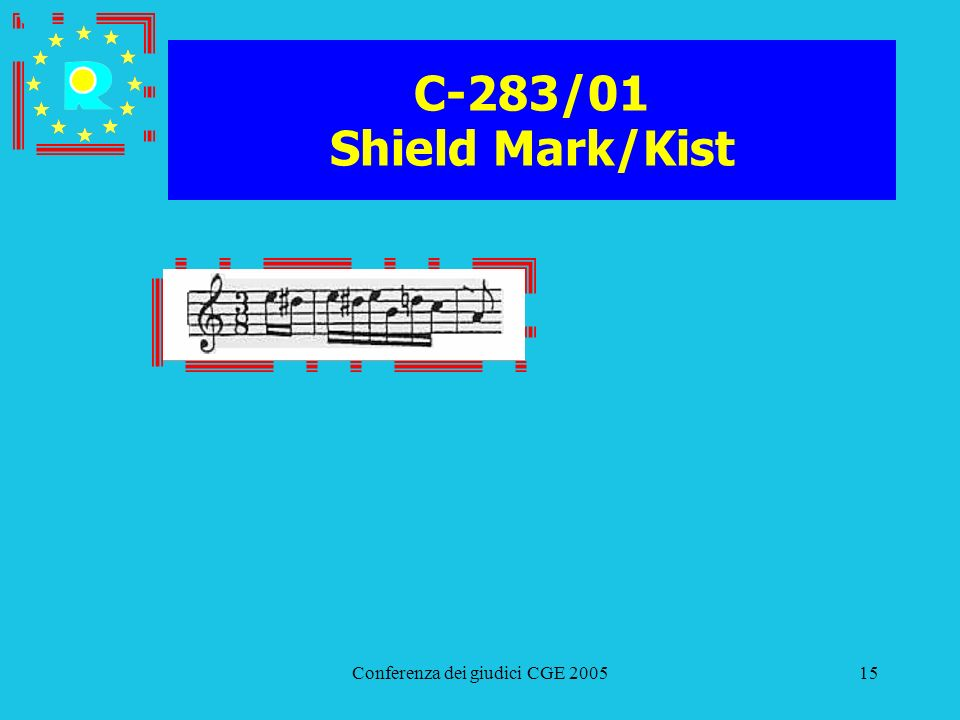Conferenza dei giudici CGE 200515 C-283/01 Shield Mark/Kist