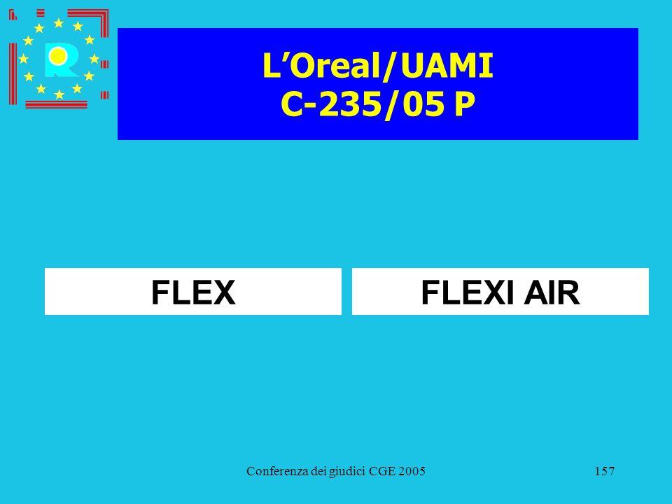 Conferenza dei giudici CGE 2005157 LOreal/UAMI C-235/05 P FLEXFLEXI AIR
