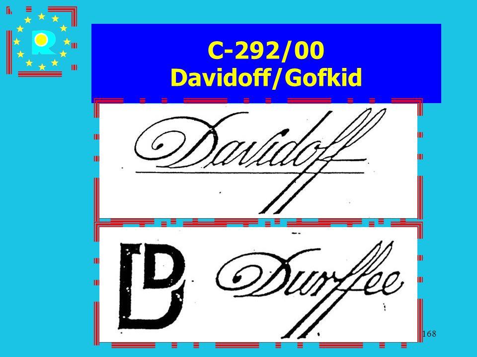 Conferenza dei giudici CGE 2005168 C-292/00 Davidoff/Gofkid