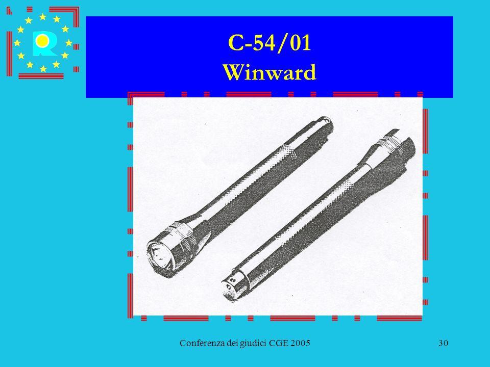 Conferenza dei giudici CGE 200530 C-54/01 Winward