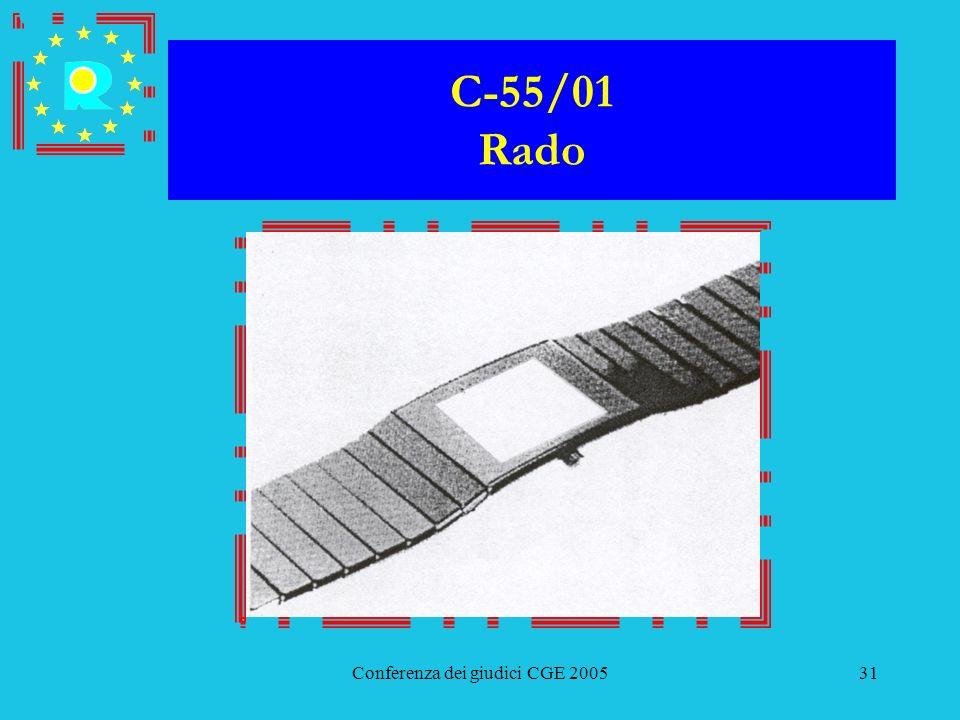 Conferenza dei giudici CGE 200531 C-55/01 Rado