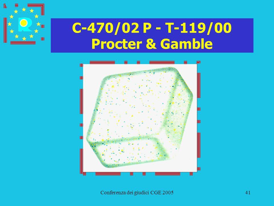 Conferenza dei giudici CGE 200541 C-470/02 P - T-119/00 Procter & Gamble