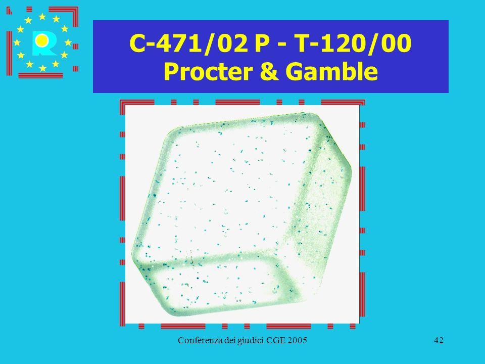 Conferenza dei giudici CGE 200542 C-471/02 P - T-120/00 Procter & Gamble