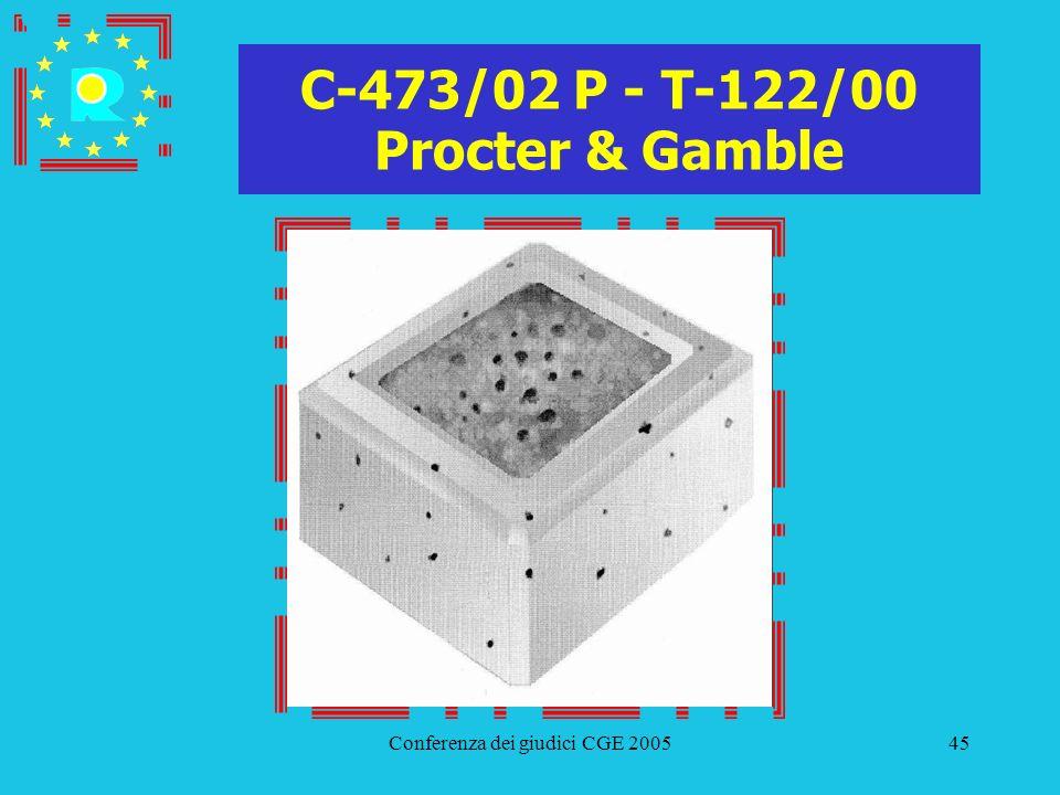 Conferenza dei giudici CGE 200545 C-473/02 P - T-122/00 Procter & Gamble