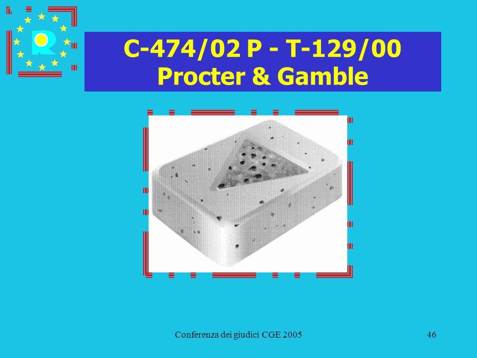 Conferenza dei giudici CGE 200546 C-474/02 P - T-129/00 Procter & Gamble