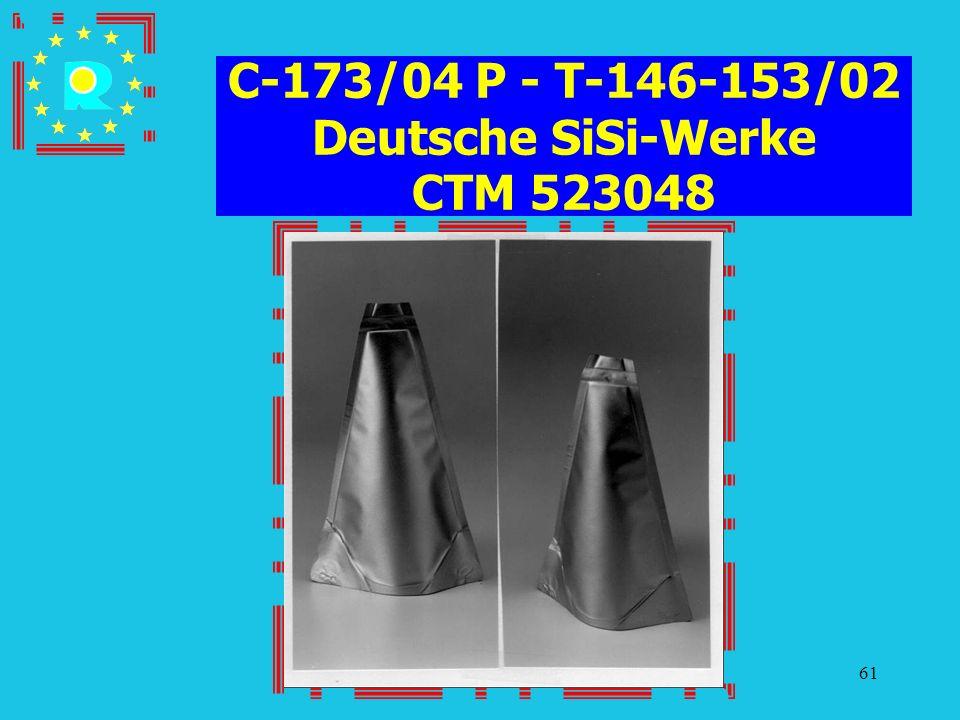 Conferenza dei giudici CGE 200561 C-173/04 P - T-146-153/02 Deutsche SiSi-Werke CTM 523048