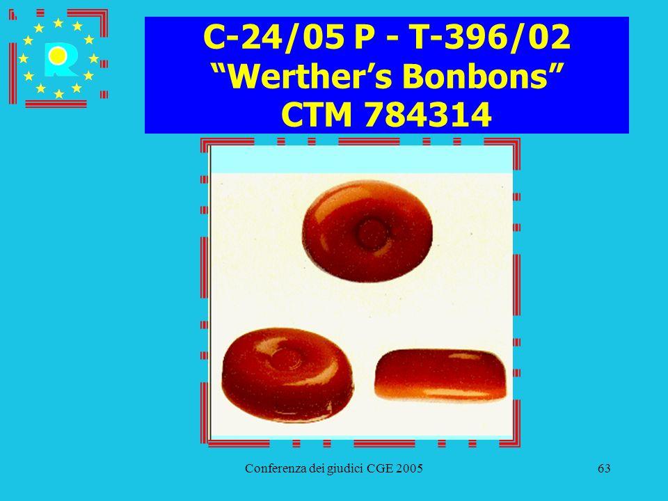 Conferenza dei giudici CGE 200563 C-24/05 P - T-396/02 Werthers Bonbons CTM 784314