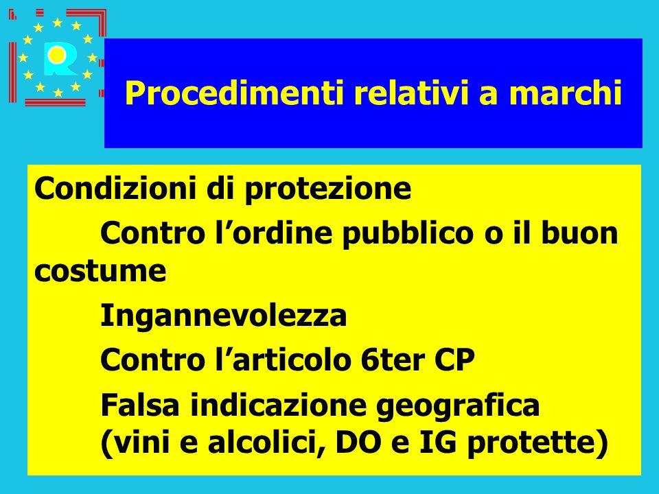 Conferenza dei giudici CGE 20057 Procedimenti relativi a marchi Condizioni di protezione Contro lordine pubblico o il buon costume Ingannevolezza Cont