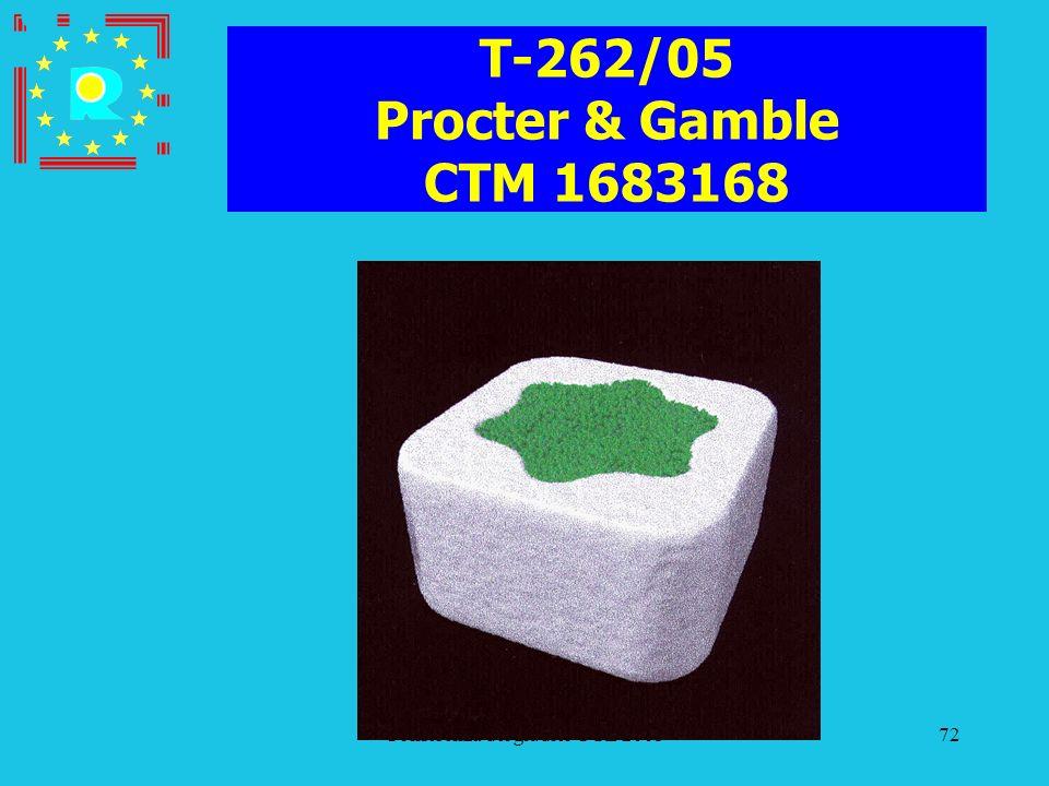 Conferenza dei giudici CGE 200572 T-262/05 Procter & Gamble CTM 1683168