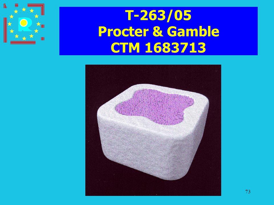 Conferenza dei giudici CGE 200573 T-263/05 Procter & Gamble CTM 1683713