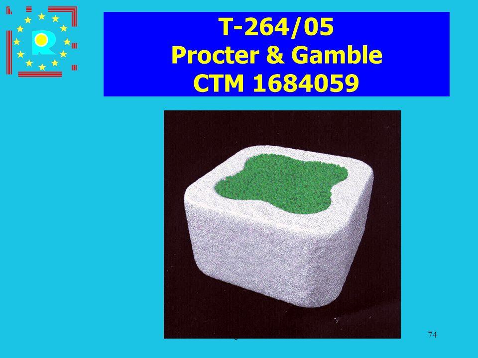 Conferenza dei giudici CGE 200574 T-264/05 Procter & Gamble CTM 1684059