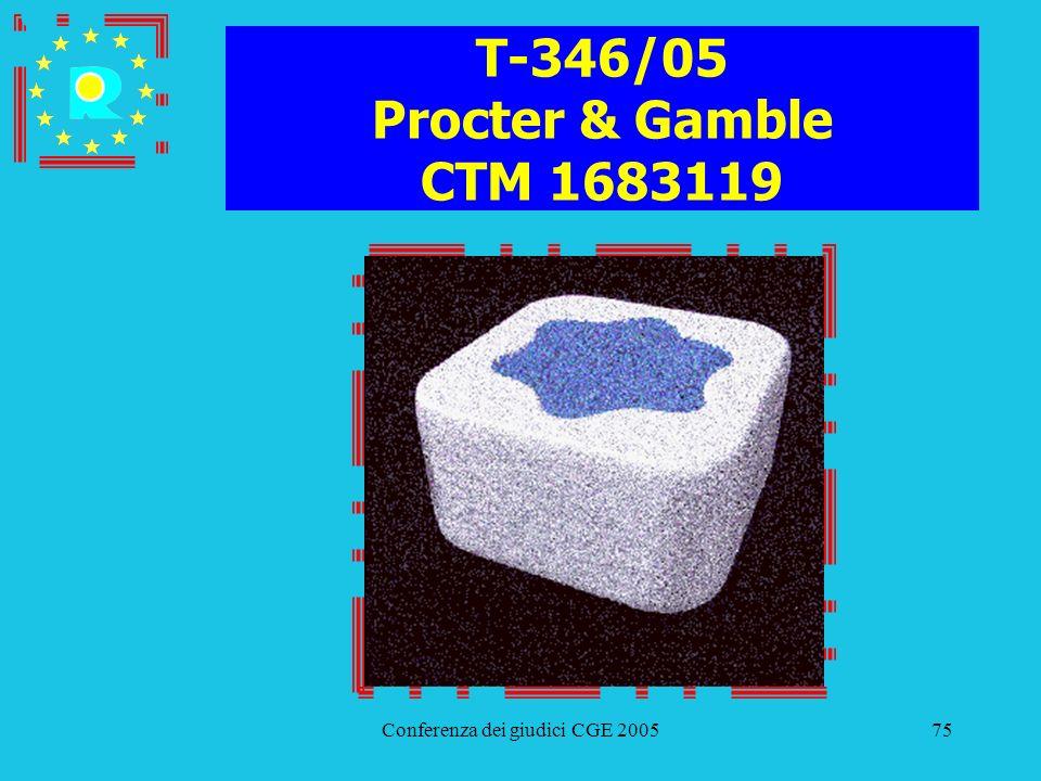 Conferenza dei giudici CGE 200575 T-346/05 Procter & Gamble CTM 1683119
