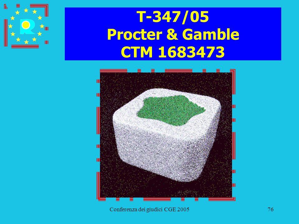 Conferenza dei giudici CGE 200576 T-347/05 Procter & Gamble CTM 1683473