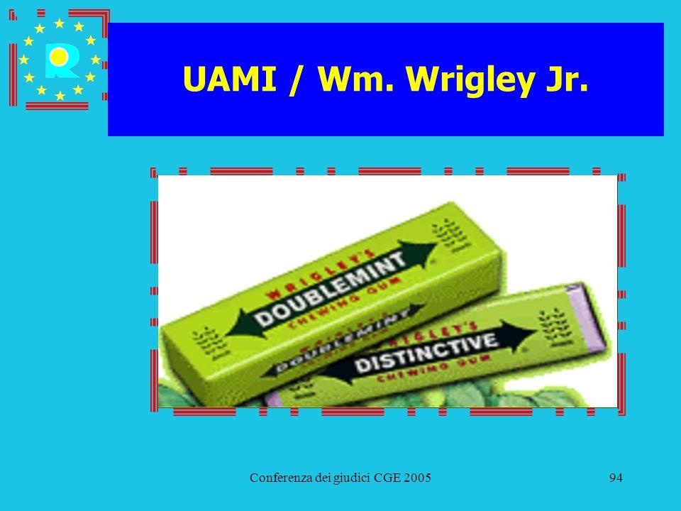 Conferenza dei giudici CGE 200594 UAMI / Wm. Wrigley Jr.