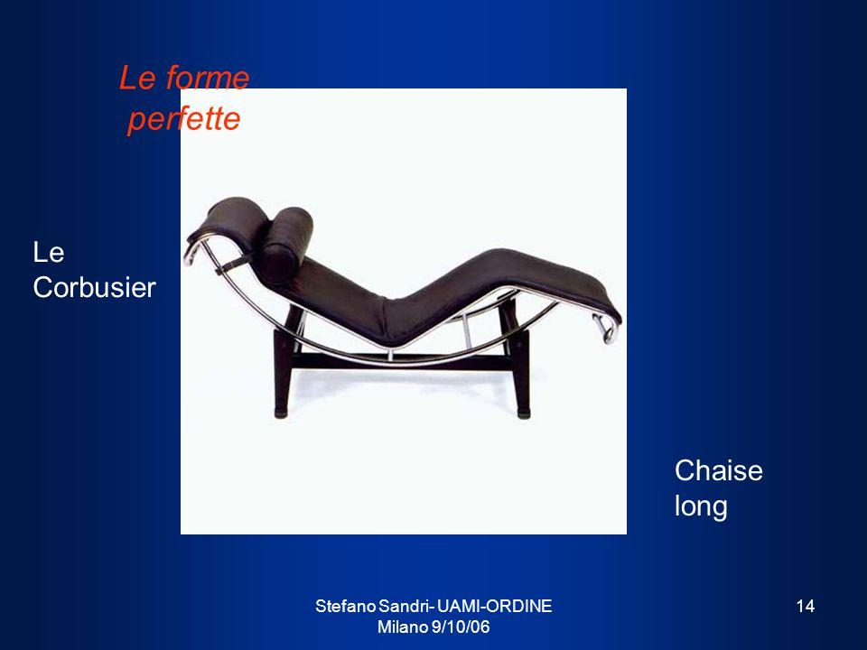Stefano Sandri- UAMI-ORDINE Milano 9/10/06 14 Le Corbusier Chaise long Le forme perfette