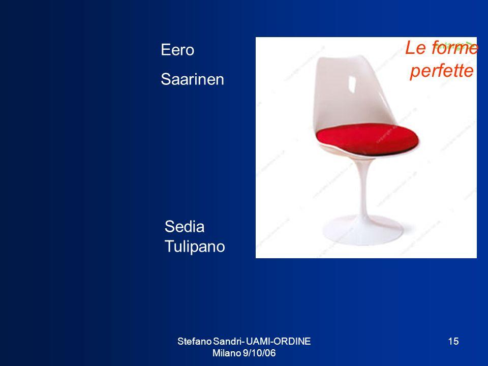 Stefano Sandri- UAMI-ORDINE Milano 9/10/06 15 Sedia Tulipano Eero Saarinen Le forme perfette