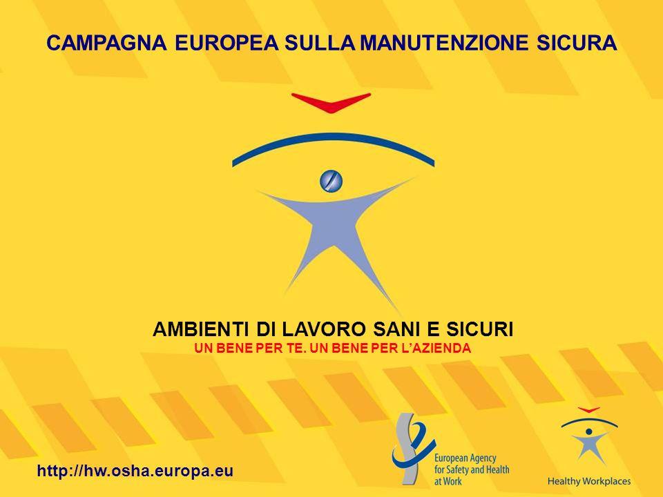 CAMPAGNA EUROPEA SULLA MANUTENZIONE SICURA AMBIENTI DI LAVORO SANI E SICURI UN BENE PER TE. UN BENE PER LAZIENDA http://hw.osha.europa.eu