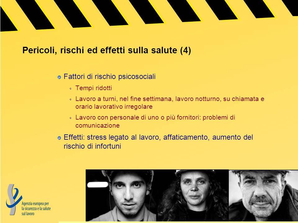 Pericoli, rishi ed effetti sulla salute (5) Rischio elevato di tutti i tipi di infortuni Molti rischi correlati alla manutenzione delle apparecchiature e delle macchine da lavoro, ad es.