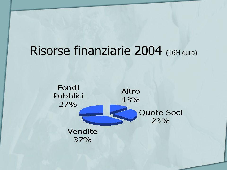 Risorse finanziarie 2004 (16M euro)