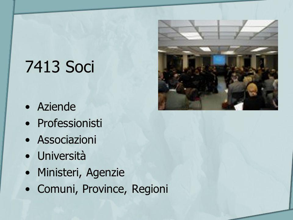 7413 Soci Aziende Professionisti Associazioni Università Ministeri, Agenzie Comuni, Province, Regioni