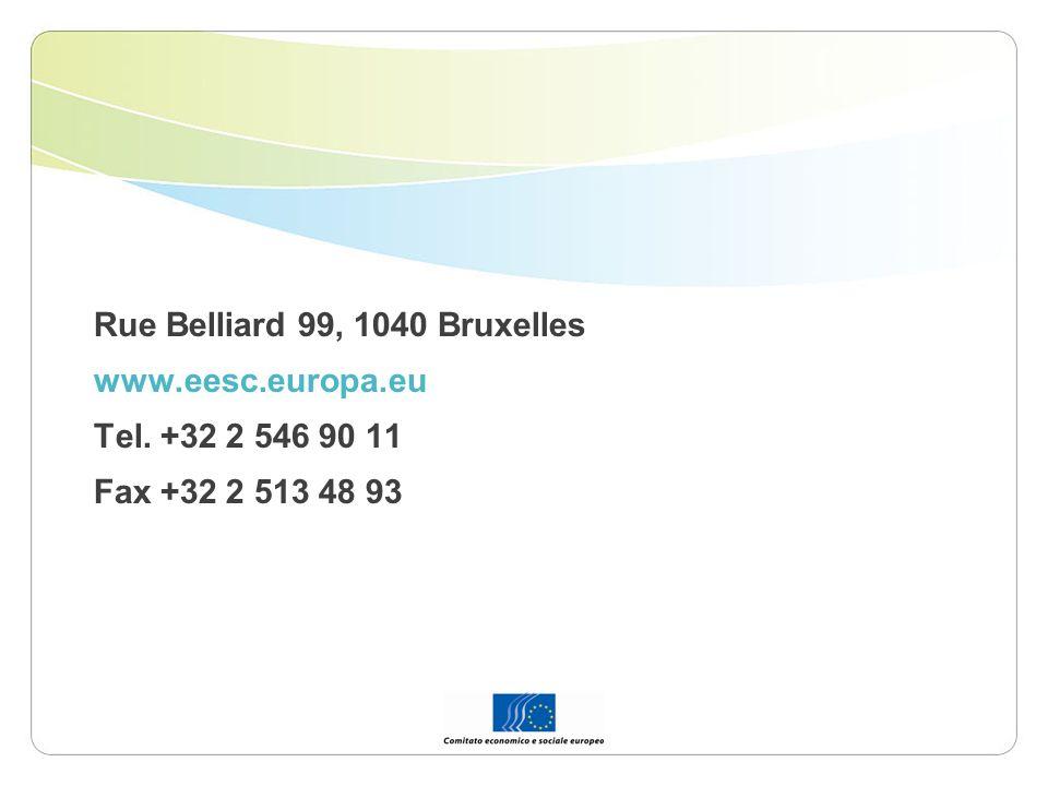 Rue Belliard 99, 1040 Bruxelles www.eesc.europa.eu Tel. +32 2 546 90 11 Fax +32 2 513 48 93