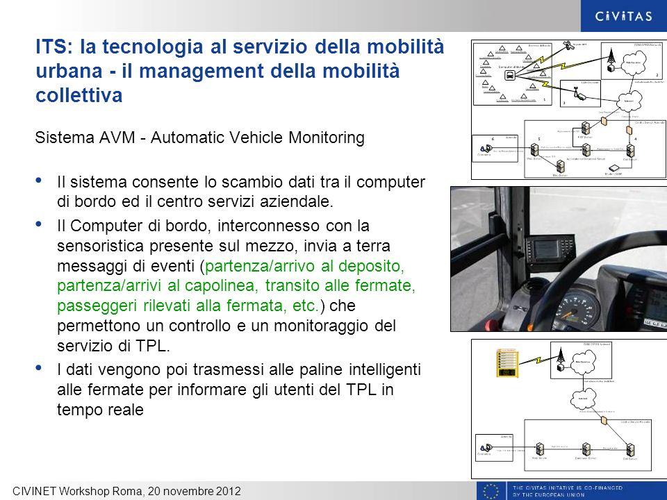ITS: la tecnologia al servizio della mobilità urbana - il management della mobilità collettiva Sistema AVM - Automatic Vehicle Monitoring Il sistema c
