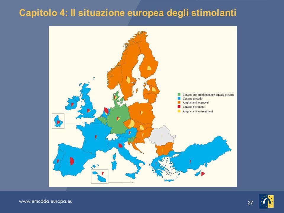 27 Capitolo 4: Il situazione europea degli stimolanti