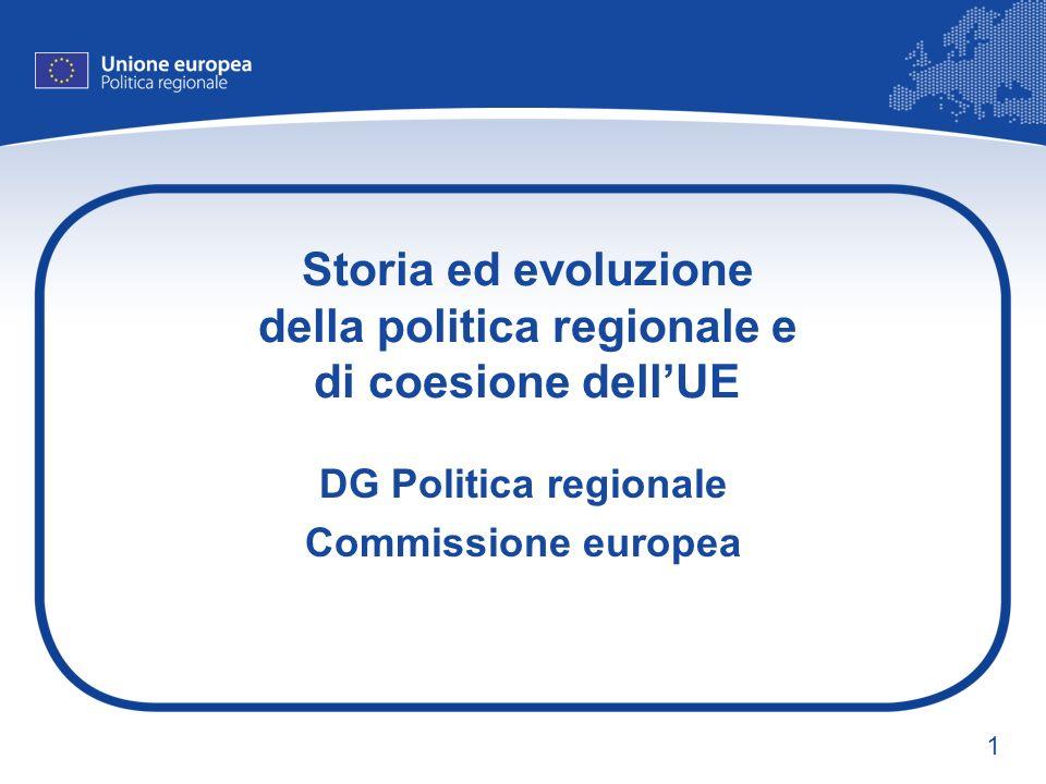 1 Storia ed evoluzione della politica regionale e di coesione dellUE DG Politica regionale Commissione europea