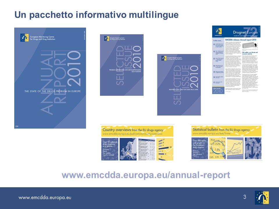 3 Un pacchetto informativo multilingue www.emcdda.europa.eu/annual-report