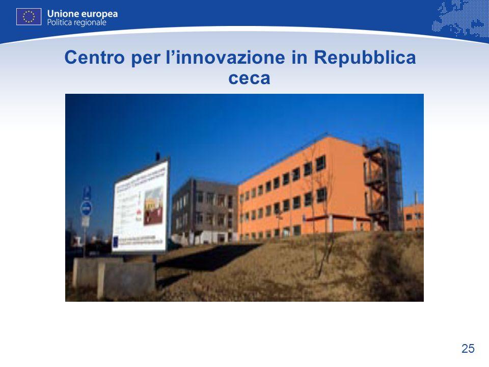 25 Centro per linnovazione in Repubblica ceca