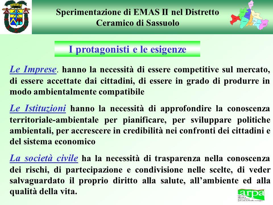 Sperimentazione di EMAS II nel Distretto Ceramico di Sassuolo Le Imprese. hanno la necessità di essere competitive sul mercato, di essere accettate da