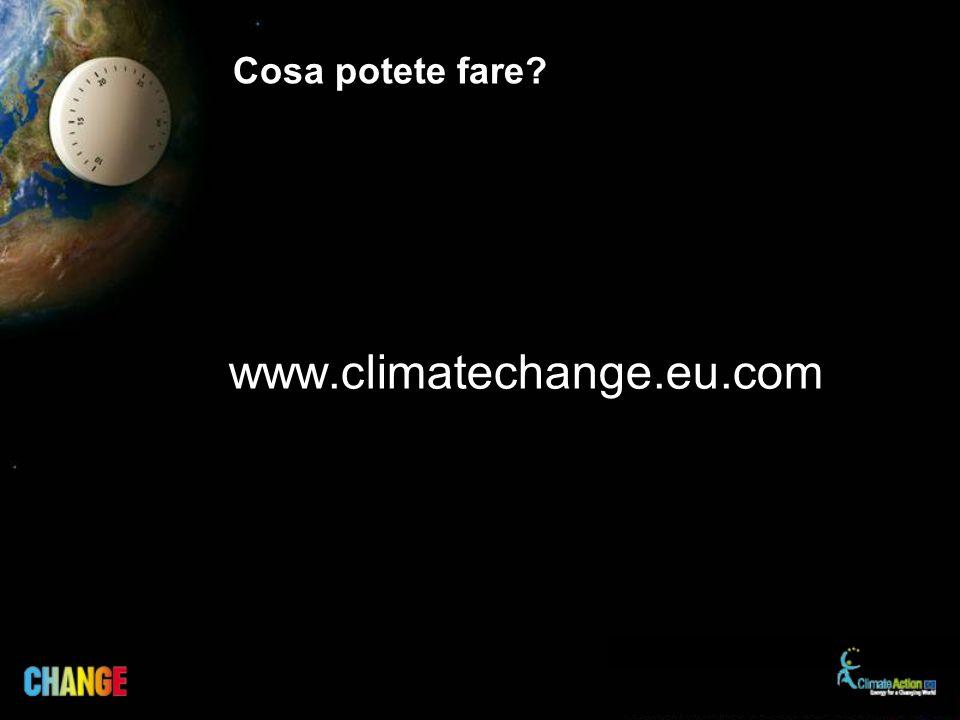 Cosa potete fare www.climatechange.eu.com