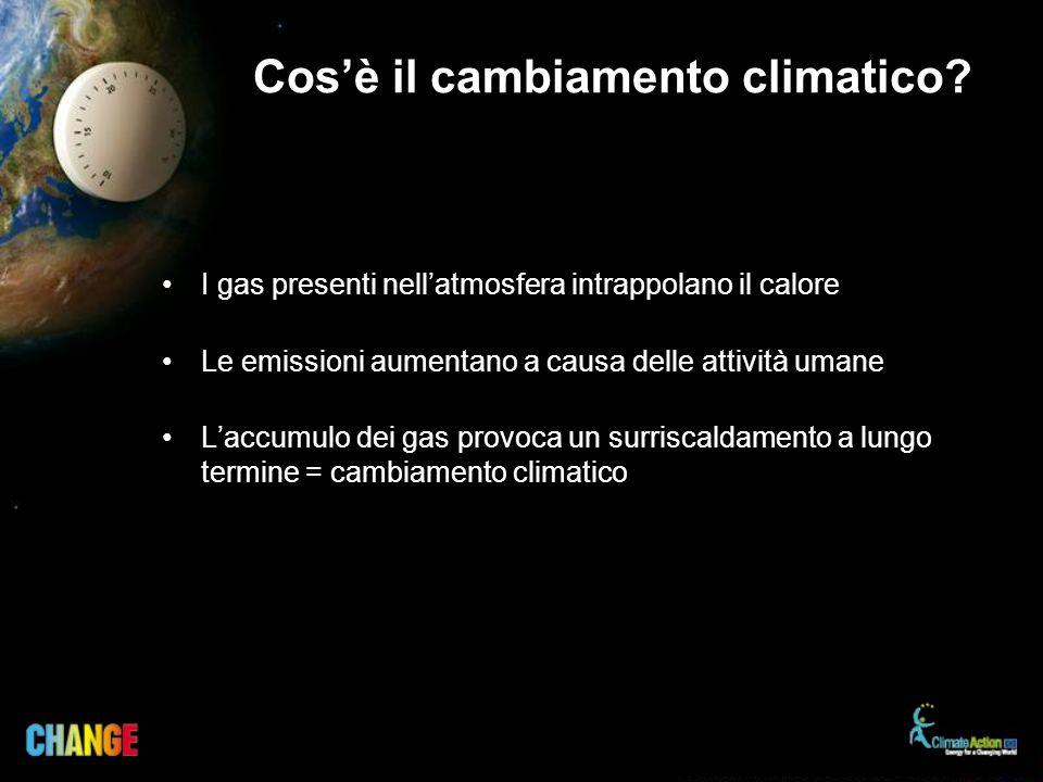 Cosè il cambiamento climatico.