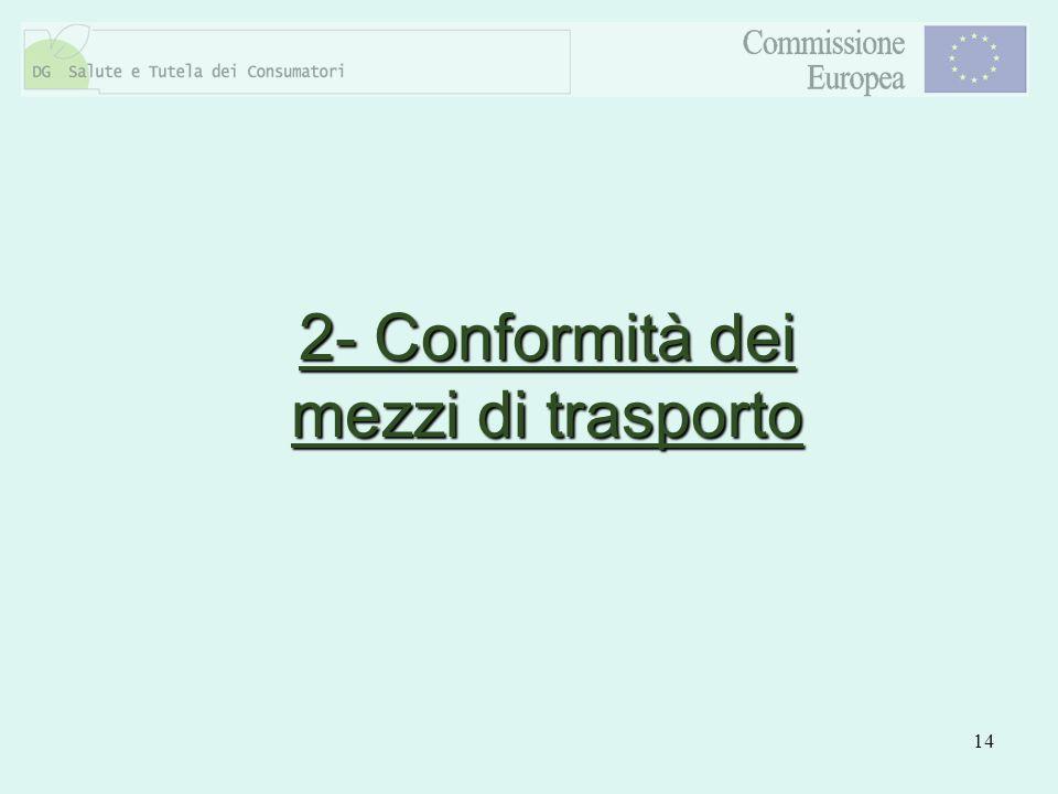 14 2- Conformità dei mezzi di trasporto