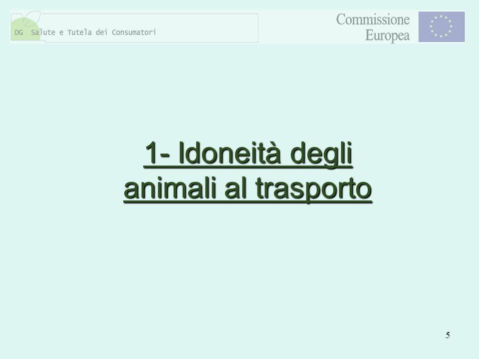 5 1- Idoneità degli animali al trasporto