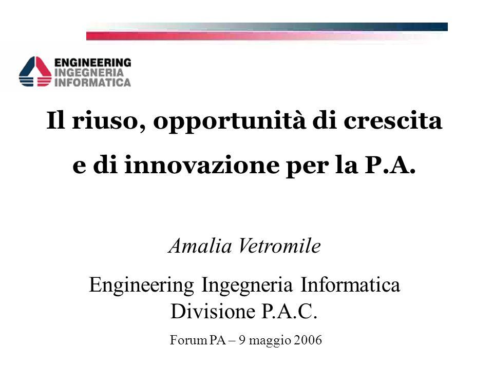 Il riuso, opportunità di crescita e di innovazione per la P.A.