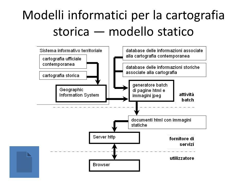 Modelli informatici per la cartografia storica modello statico