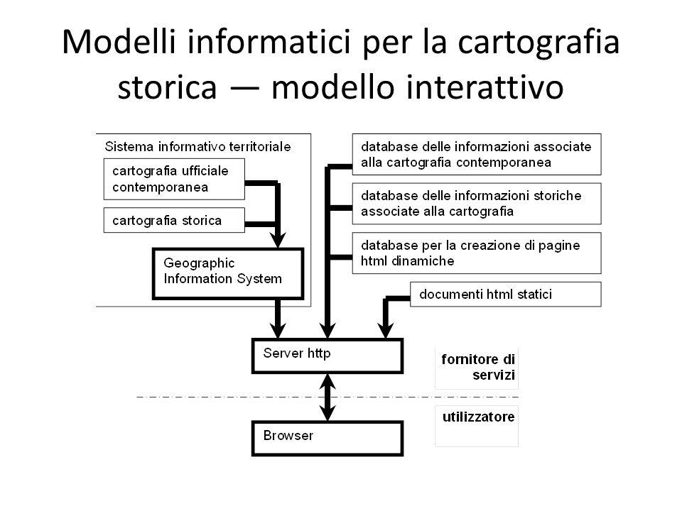 Modelli informatici per la cartografia storica modello interattivo